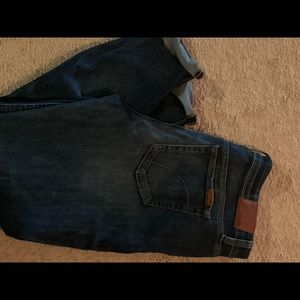 Joes jeans rolled crop skinny jeans sz 32 r